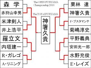 2010 The OPEN FUJIYAMA 決勝トーナメント結果